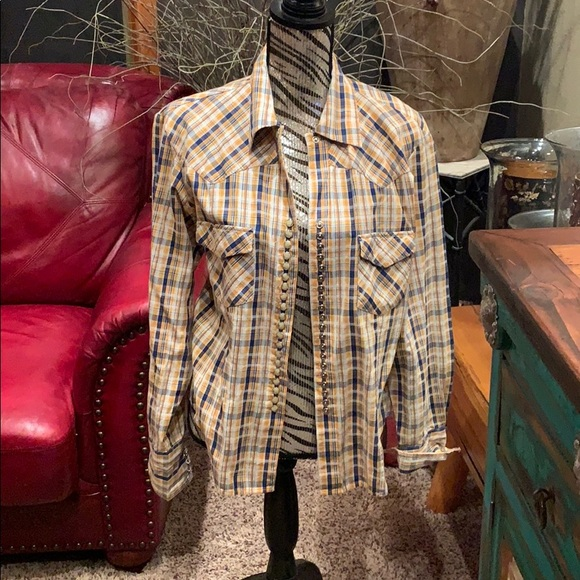 Scully Tops - Rare Scully button down plaid top
